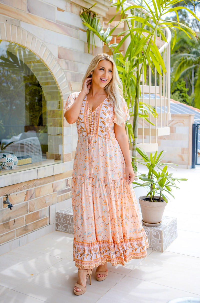 The Cora Maxi Dress - Seashell