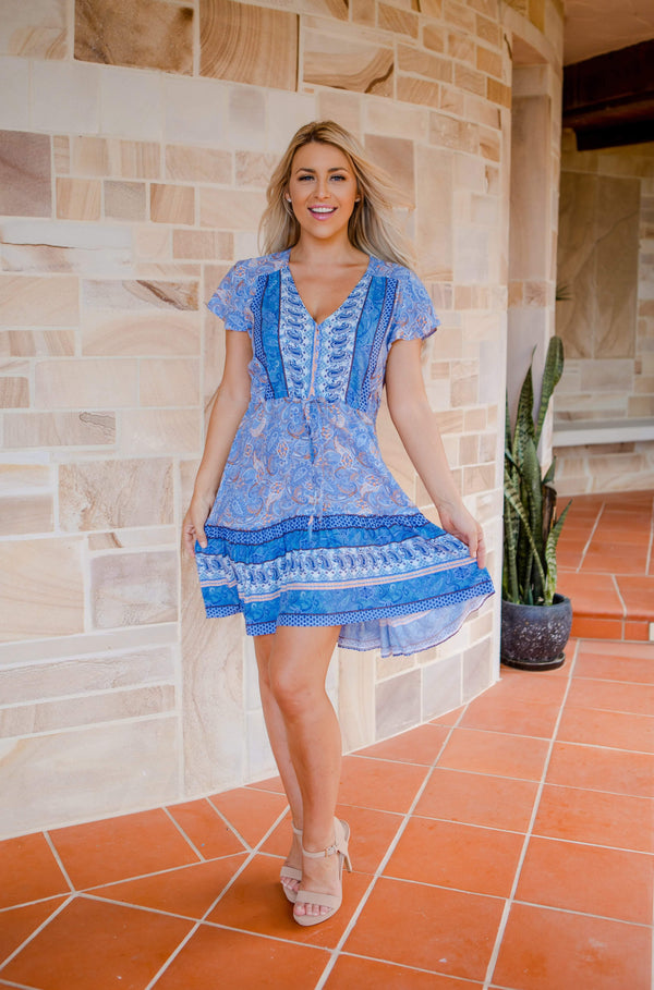 The Nala Dress - Ocean Blue