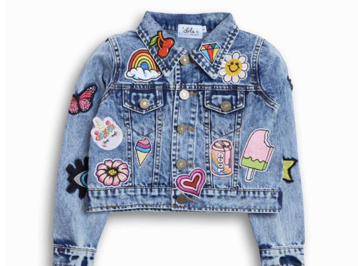 All About the Patch Crop Denim Jacket
