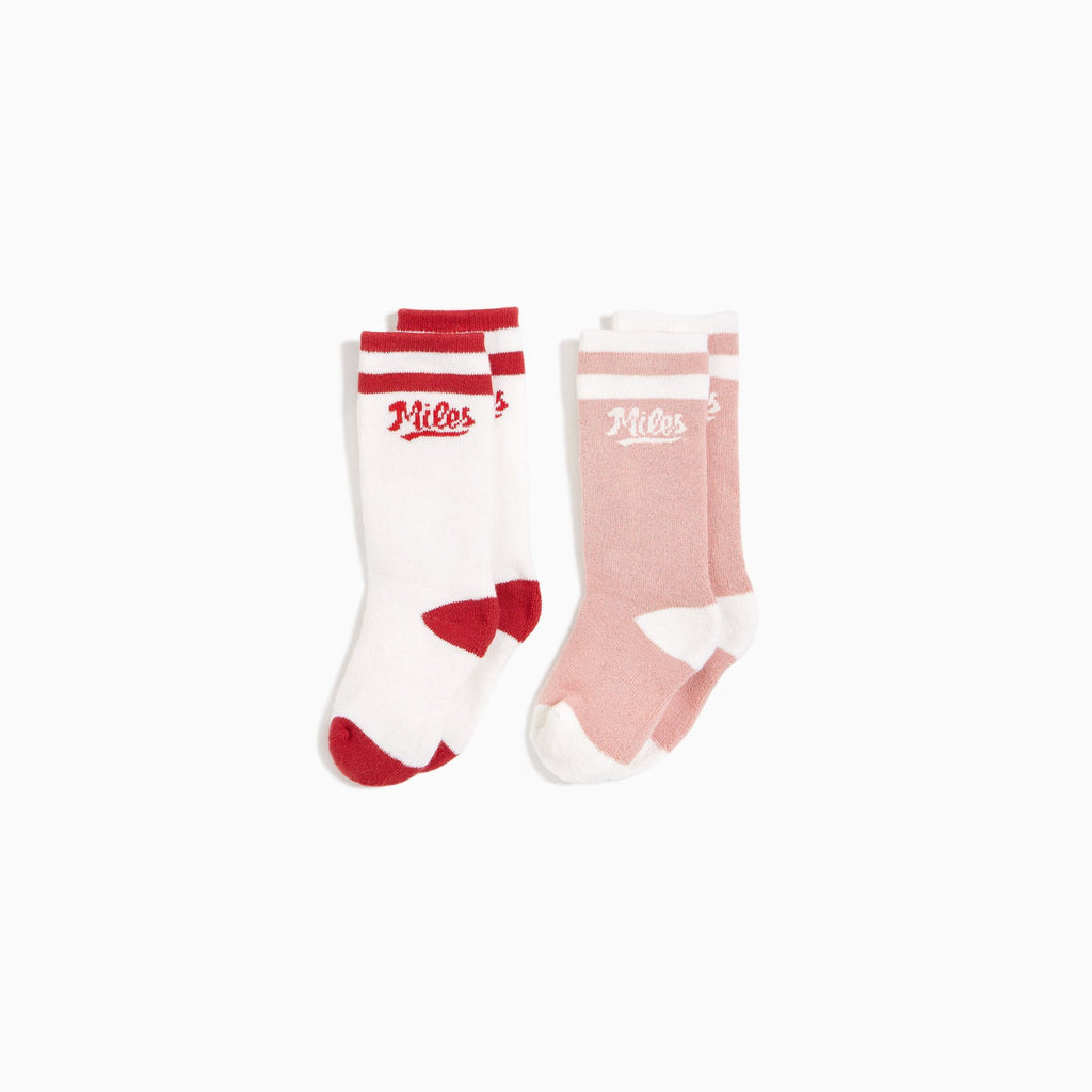Pink Baseball Socks