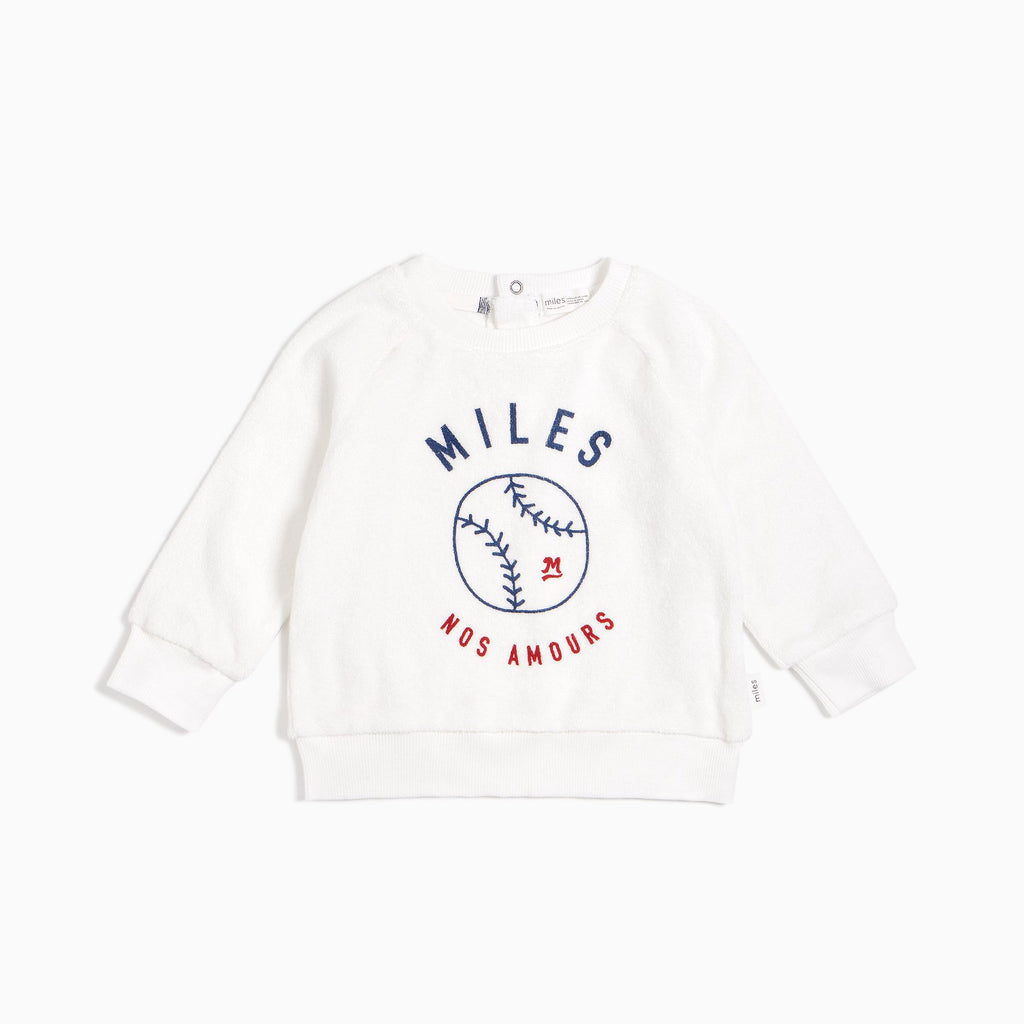 White Baseball Sweatshirt