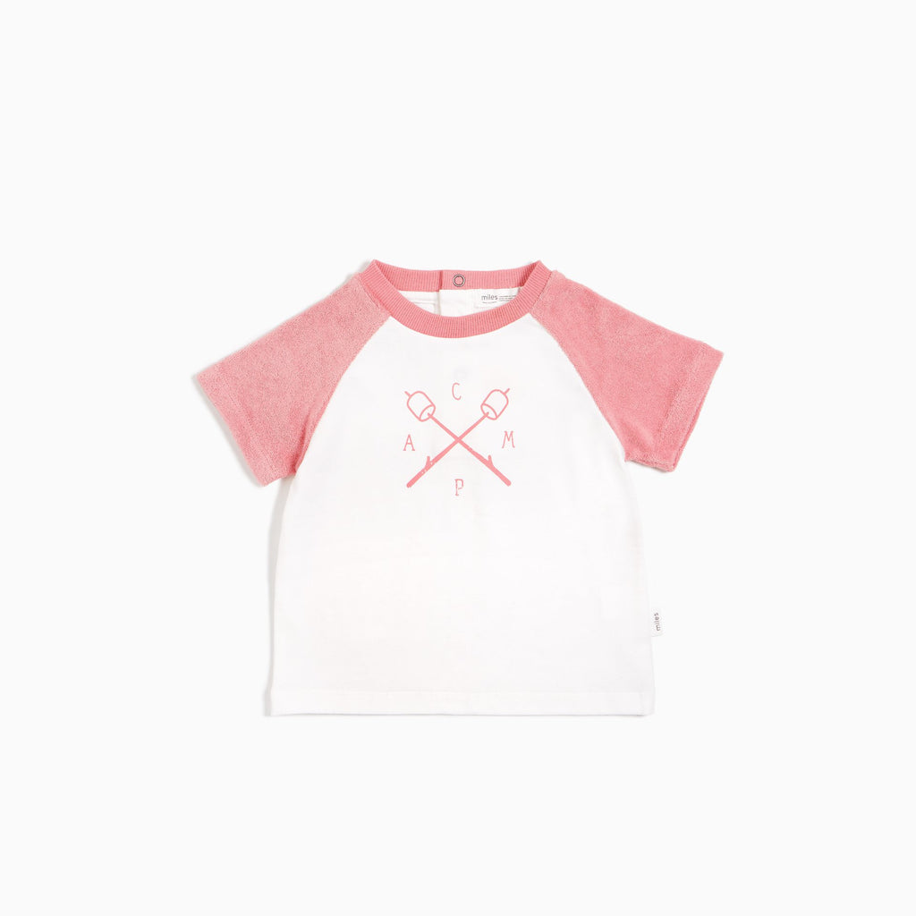 Melon terry Cloth Raglan