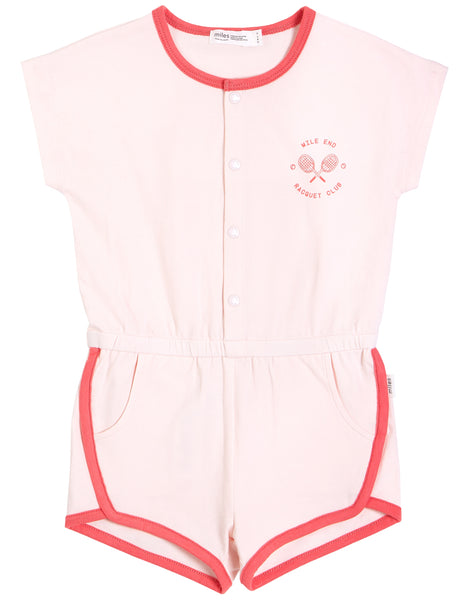 Light Pink Ringer Romper