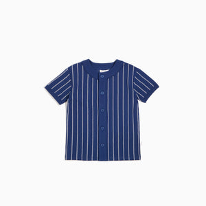 Navy Stripped Baseball Jersey
