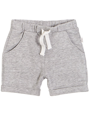 heather gray knit shorts