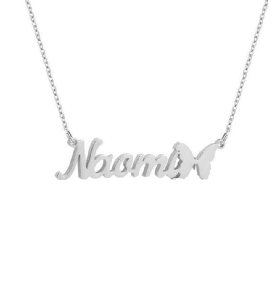 PERSONALISED NAME NECKLACE | BUTTERFLY DETAIL