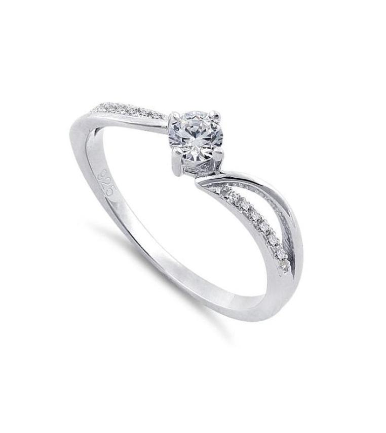 TWISTED CUT-OUT SPARKLE RING - Bijoux Gifts Ltd