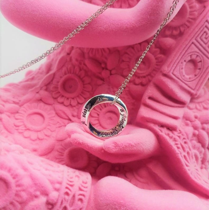 A SISTER IS A FRIEND FOREVER STERLING SILVER NECKLACE