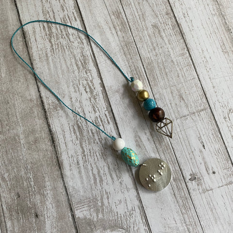 Boho Beaded Bookmark with Braille Charm