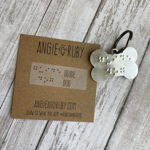 GUIDE DOG: Dog Bone Shaped Dog Tag