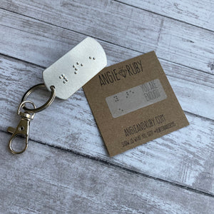 YOU ARE ENOUGH: Braille Dog Tag Keychain