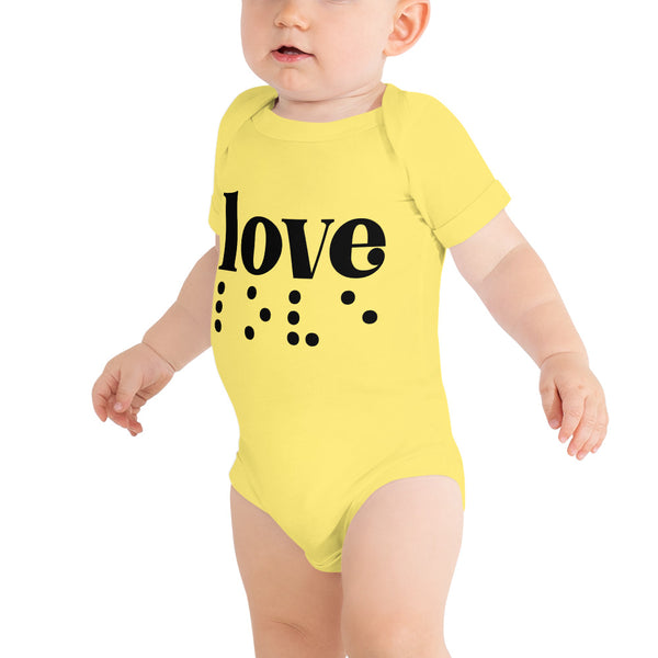 Love in Braille Baby Bodysuit - Dark Print