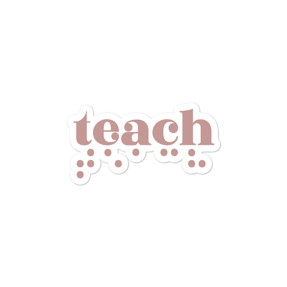 Teach Braille Sticker - Rose