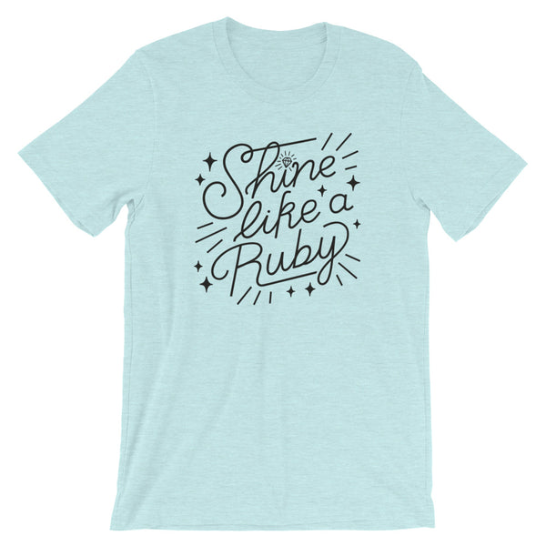 Shine Like a Ruby Unisex Adult Tee - Dark Print