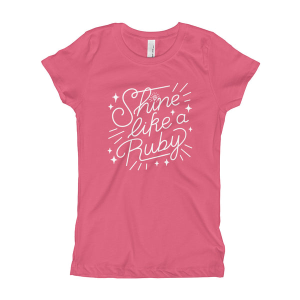 Shine Like a Ruby Youth Slim Fit Tee - Light Print