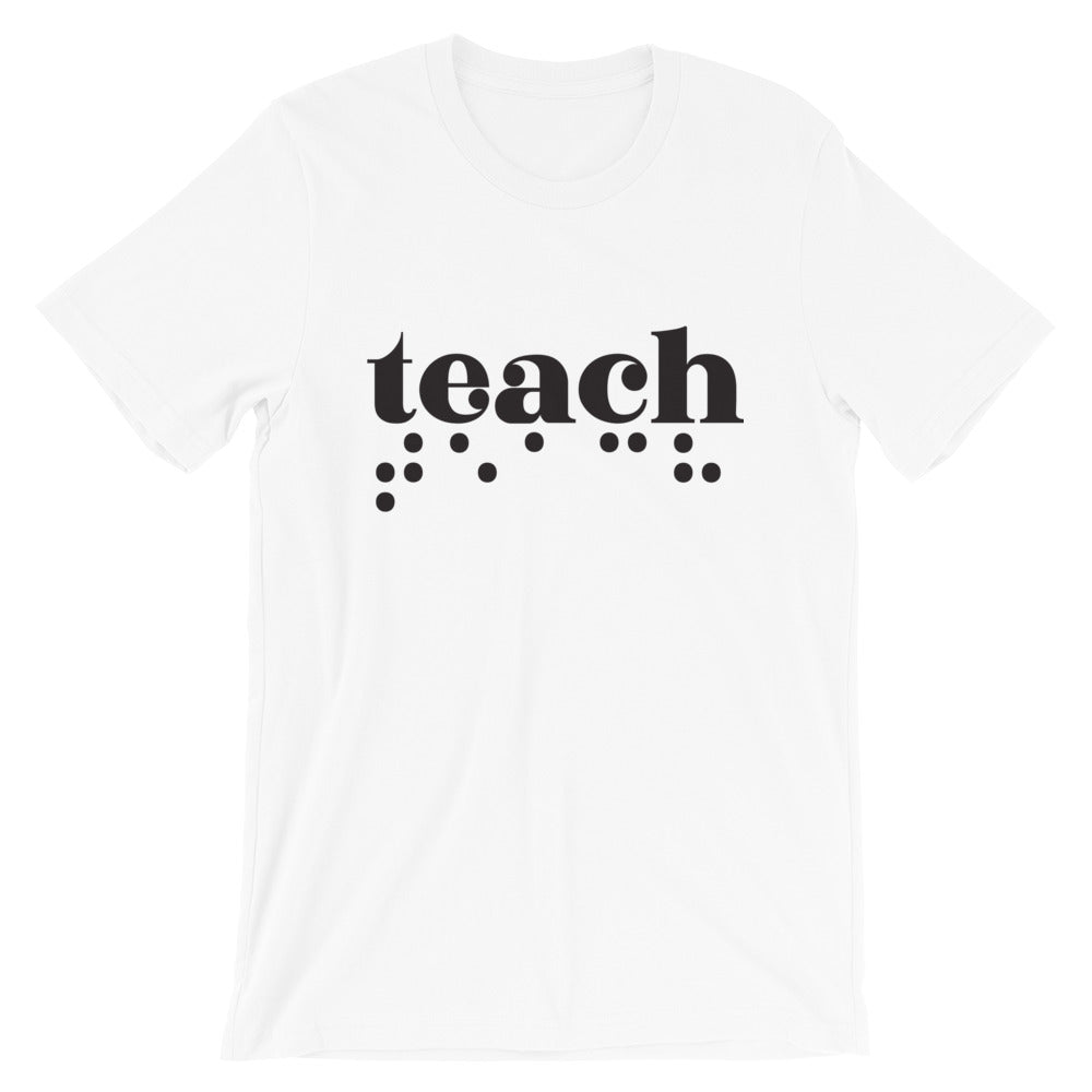 Teach Braille Adult Unisex Tee - Dark Print