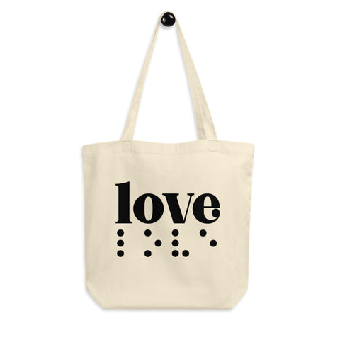 Love in Braille Eco Tote Bag