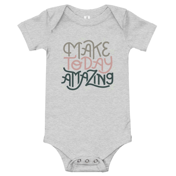 Make Today Amazing Baby Bodysuit - Rose + Moss