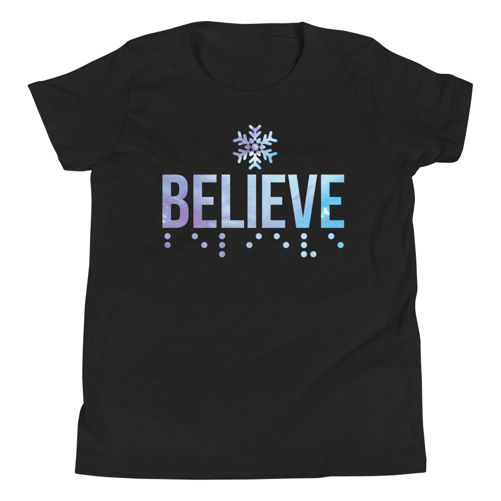 "Believe in Braille ""Frozen-Inspired"" Youth Short Sleeve T-Shirt"