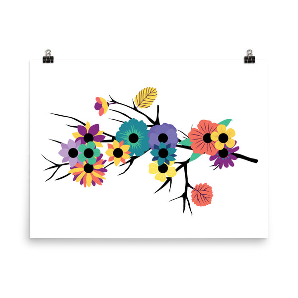 """Wild"" in Braille Flowers Poster"