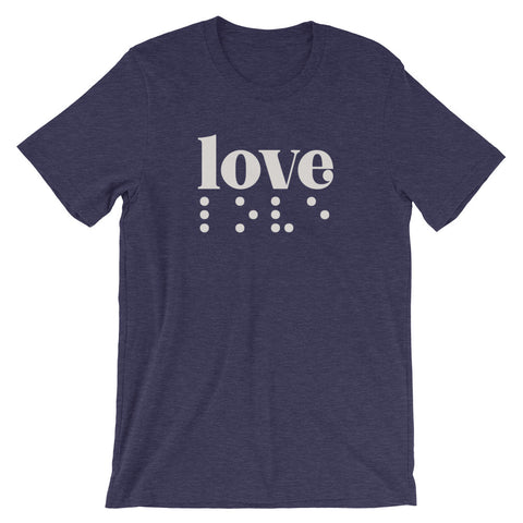 Love in Braille Unisex Adult Tee - Light Print