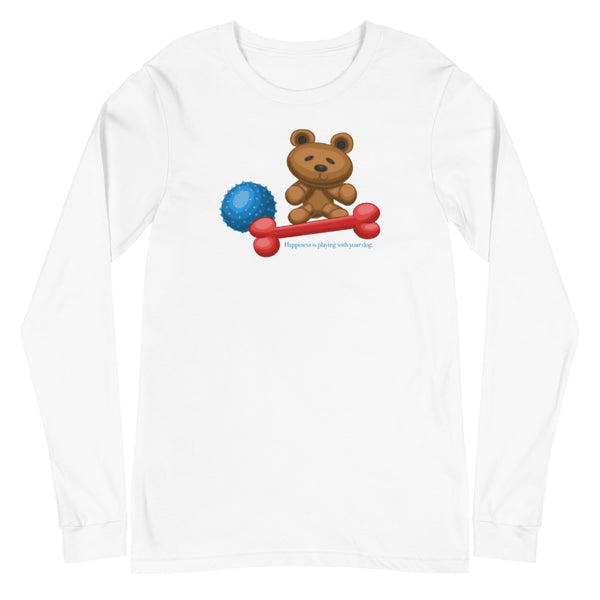 Happiness is Playing With Your Dog Unisex Long Sleeve Tee