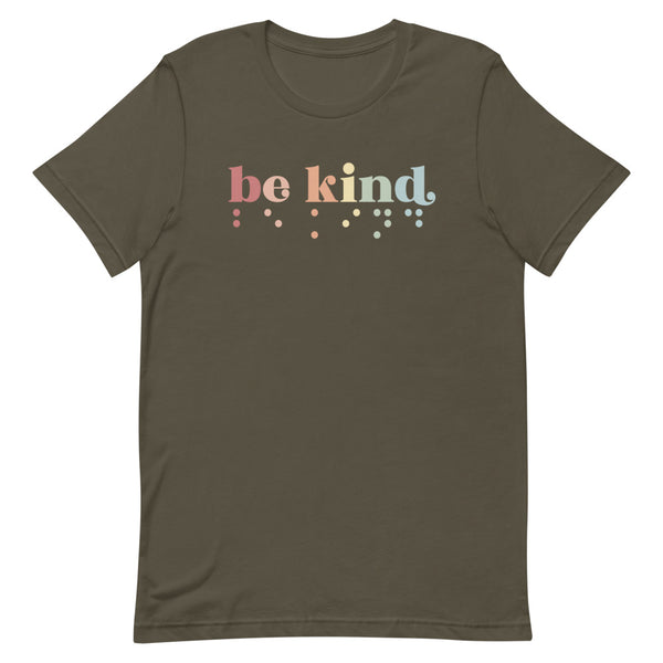 Be Kind in Braille Adult Unisex Tee