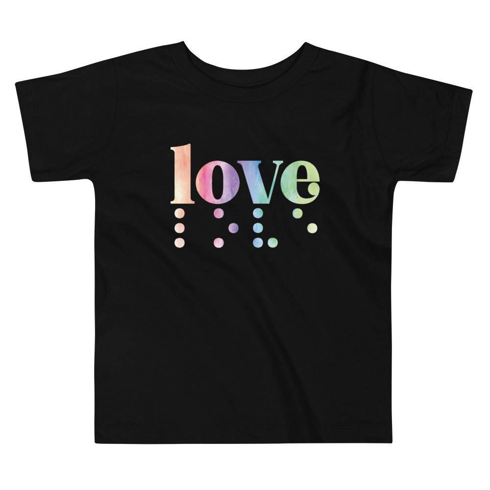 Love in Braille Toddler Tee - Rainbow