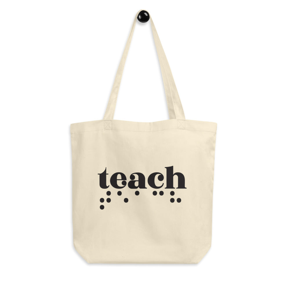 Teach Braille Eco Tote Bag