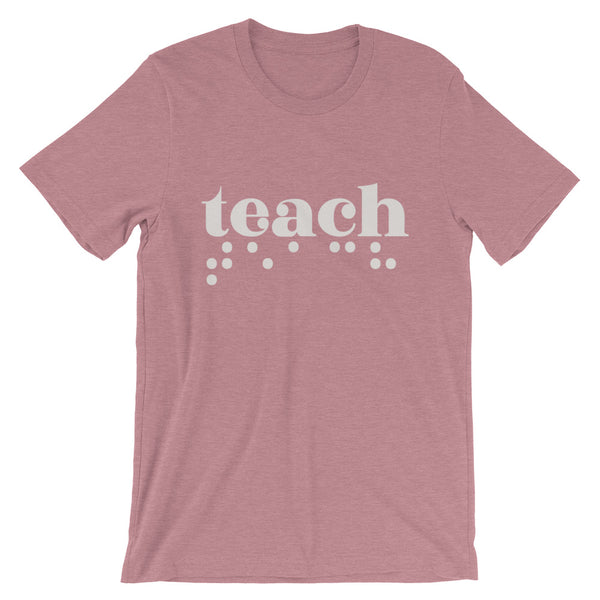 Teach Braille Adult Unisex Tee - Light Print