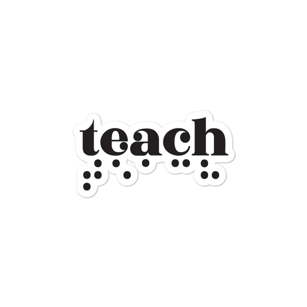 Teach Braille Sticker - Dark Print