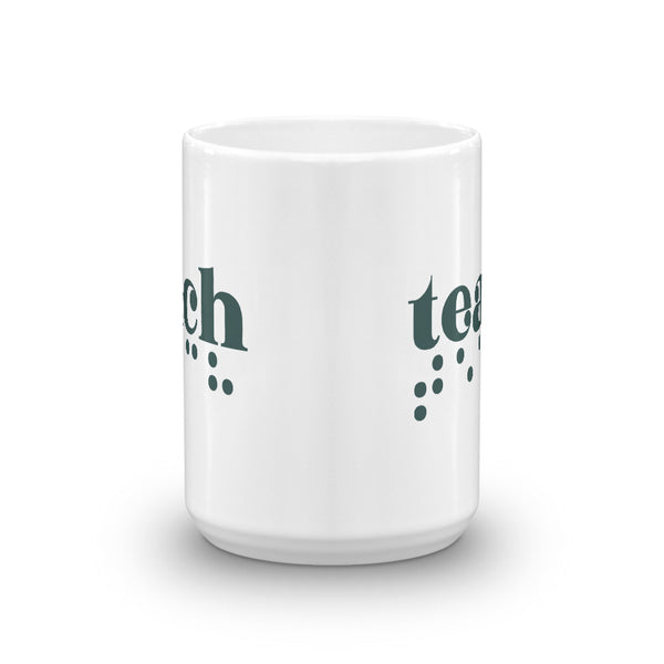 Teach Braille Mug - Teal