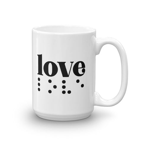 Love in Braille Mug