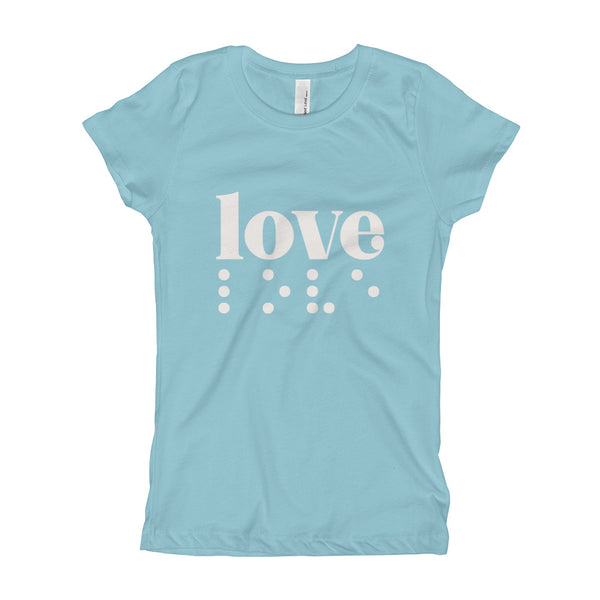 Love in Braille Youth Slim Fit Tee