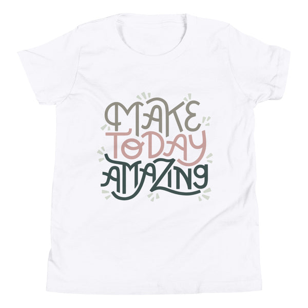 Make Today Amazing Youth Tee - Moss + Rose
