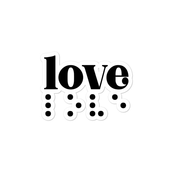 Love in Braille Sticker - Black