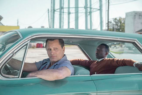 Green book. Twee mannen in een auto
