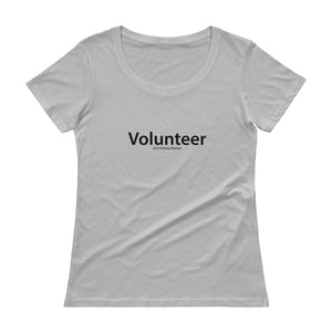 "Ladies' ""Volunteer"" Scoopneck T-Shirt"