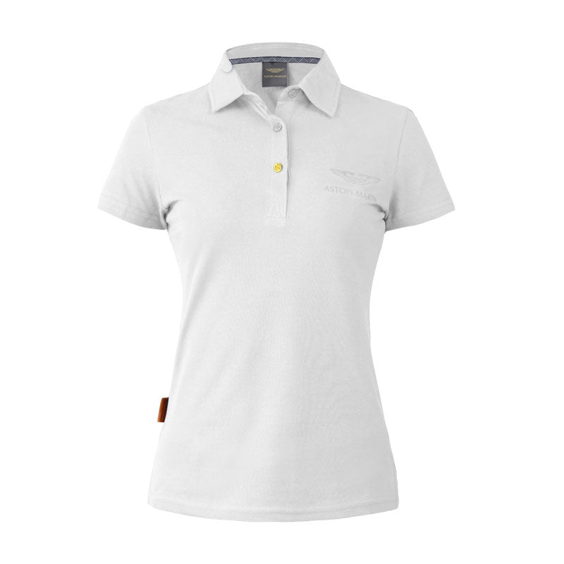 WHITE ASTON MARTIN POLO-LADIES