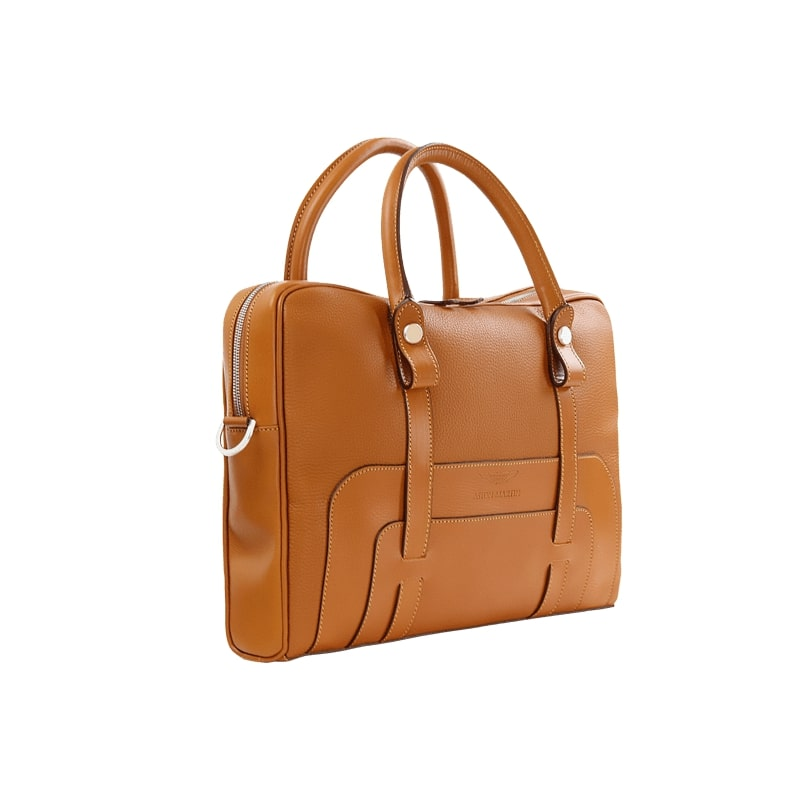 LUXURY LEATHER BRIEFCASE - TAN