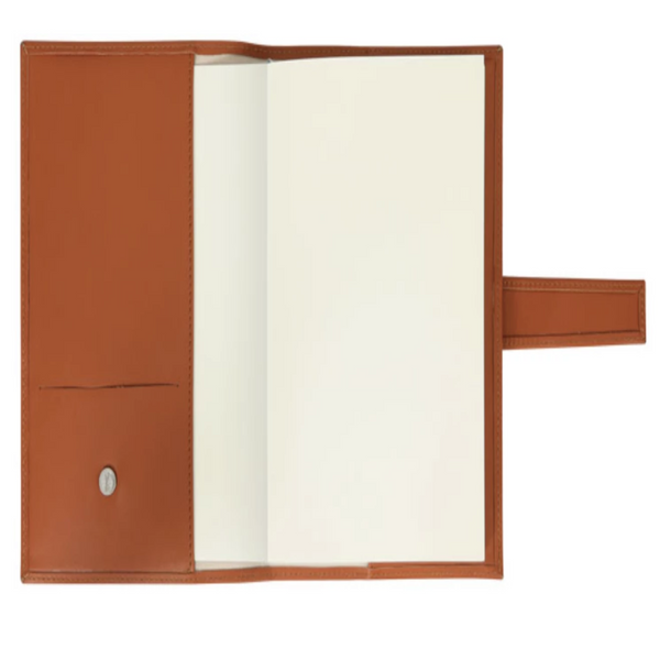 Leather Journal With Pin - Tan