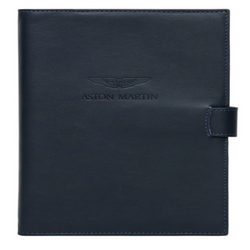 Leather Journal With Pin - Navy