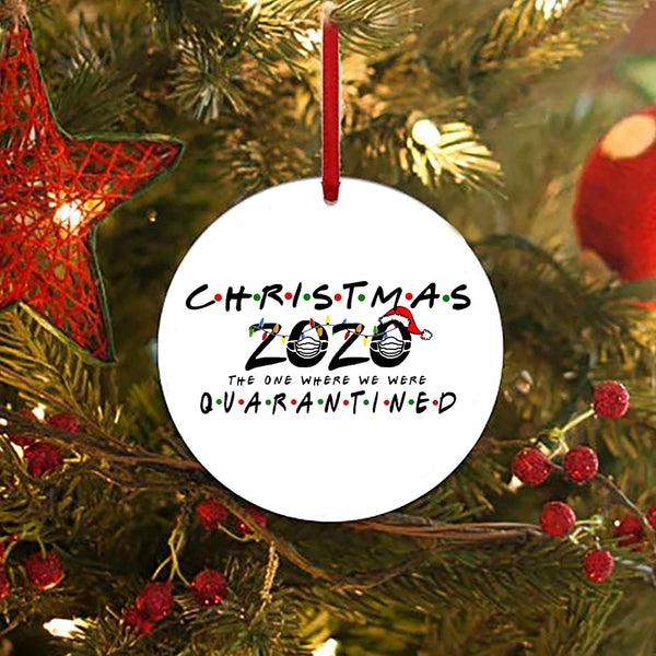 2020 Christmas Quarantine Ornament Friends Themed | 5 Christmas Tree Ornaments You Need for 2020!