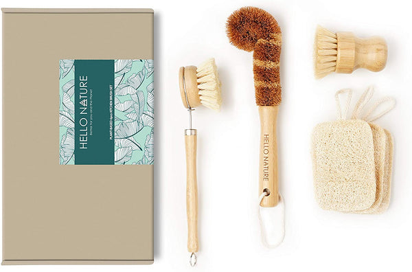Bamboo Kitchen Cleaning Set | 10 Sustainable Products You Need In Your Home!
