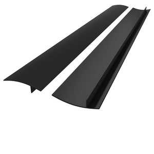 Silicone Gap Cover Kitchen Stove Counter Gap Cover Silicone Counter Top Gap Filler 21 inch 2pc Black