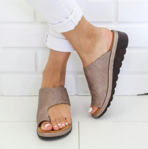 BRONZE Women Bunion Shoes Orthopedic Bunion Sandals | shopthecoolest.com