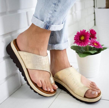 Load image into Gallery viewer, GOLD Women Bunion Shoes Orthopedic Bunion Sandals | shopthecoolest.com