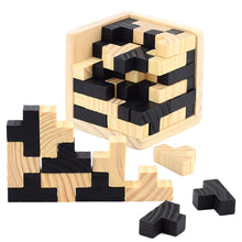 Load image into Gallery viewer, 3D Kids Puzzle Interlocking Wood Cube