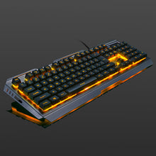 Load image into Gallery viewer, Silver X Golden LED Mouse and Keyboard Combo