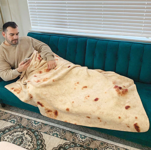 Burrito Blanket Tortilla Blanket Adult Sizes Round Shaped